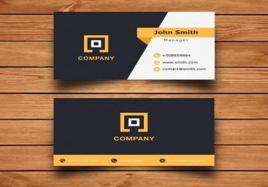 create 2 different Modern Business card