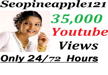 35,000+ HR YouTube Views + 350 Extra Bonus YouTube Likes Real And Non Drop
