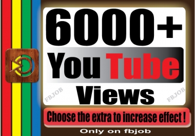 Fast 6000+ Non Drop High Quality Adsense Safe Views for Your YouTube Video
