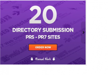 make manual directory submission to 20 PR3 PR7 sites