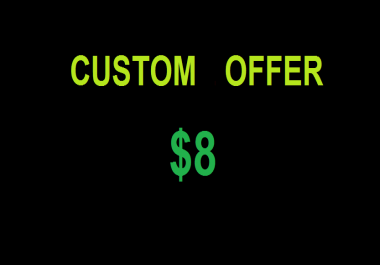 Custom Dripfeed offer as per client request