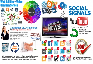 Top 25 Web 2.0 Blogs Network Creation Service High Quality Web 2.0 Homepages + Video