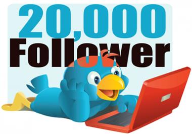 I'll provide ++20K of HQ & LIFE-TIME twitter followers