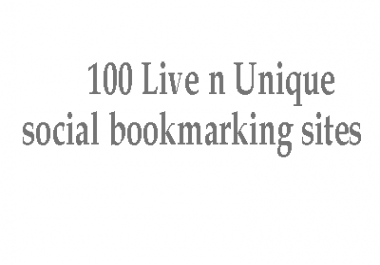 Bookmark your website to 100 Live n Unique social bookmarking sites
