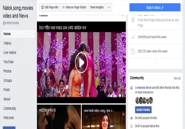 Share your youtube video or any link most powerfull social media  Page