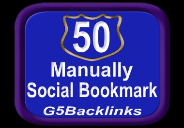 build Top 50 Social Bookmark SEO Backlinks