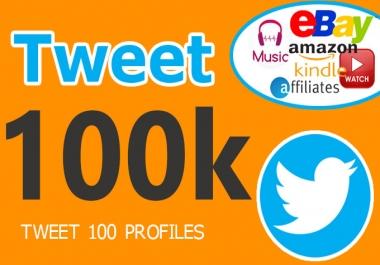 I will tweet for 100k Followers