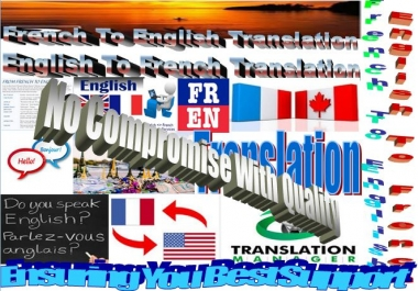 I will translate From French To English and Vice Versa Per Page