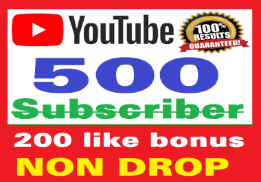 Add 500+ Real Youtube Subscribers and 200+ Likes YT Safe and Non Drop, Instant Start , top Youtube Views