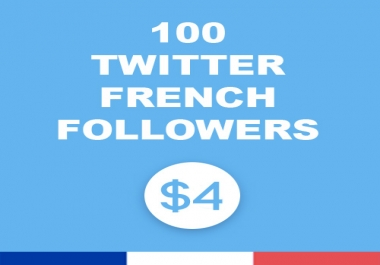 100 Twitter french followers