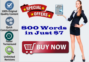 I will Write 800 Words Quality SEO Article