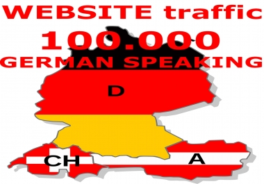 I will send 100000 human visits from Germany Switzerland Austria