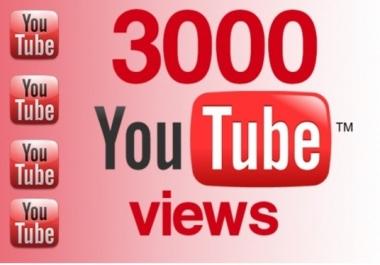 Fast 3100 - 3200 Retention Youtube VIDEO Views Improve SEO Ranking