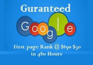 Guranteed google top10 in 30 days