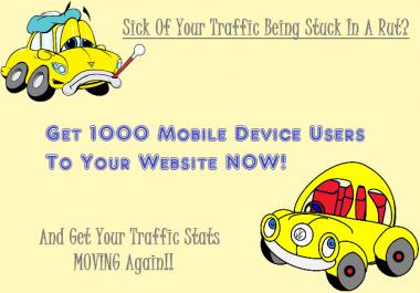1000 Mobile Device Traffic USA Canada UK Visitors