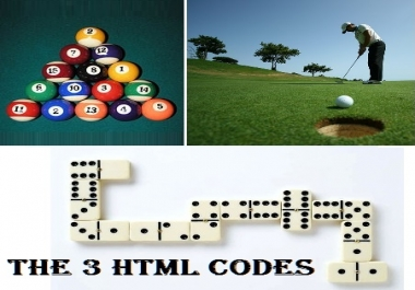 I will give you 8POOL BILLIARDS, GOLF And DOMINO GAME CODES for your websites