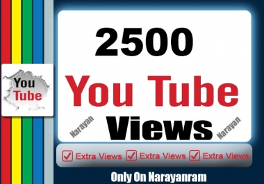 2000 To 3000 High Quality YouTube Views Fully safe