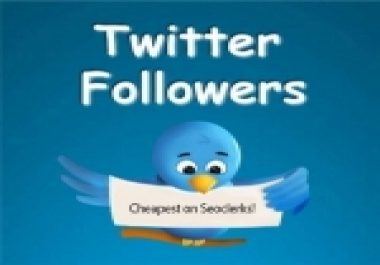 Get instantly 4,000 Real and active Twitter Followers