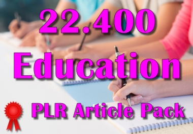 22400 EDUCATION Plr Article Collection Pack