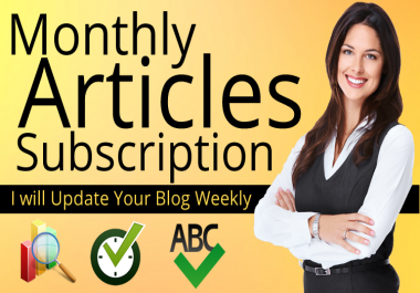 Get Monthly Article Subscription to keep your Blog Updated