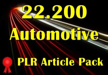22200 AUTOMOTIVE Plr Article Collection Pack