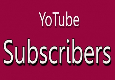 Provide You 40+ Non Drop YouTube Subscribers