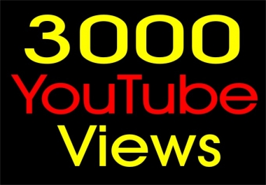 Give You 3000 High Retention + Splitable Youtube Views