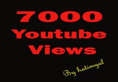 Give You 7000+ Good Retention + Splitable Youtube Views