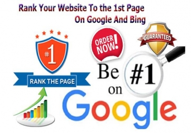 Rank Your Website On 1st Page Of Google Search With Authority Backlinks