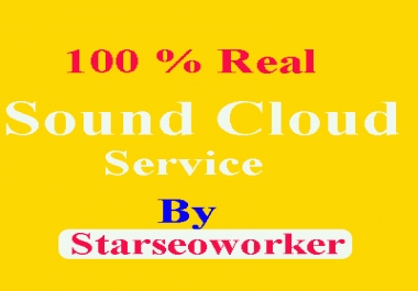 Get Sound Cloud 6,00,000 Plays +100 Favorites-likes+100 Repost+100 Comments