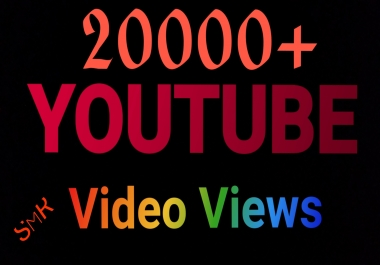 HR 20000+ AdSense safe youtube video Views & 110+ Video like