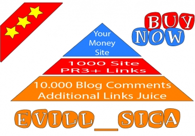 I will make link pyramid 1000 PR3 PR8 profiles and 10k blog comments Stop and Buy here