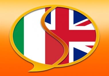 Translate 1k words Italian/English