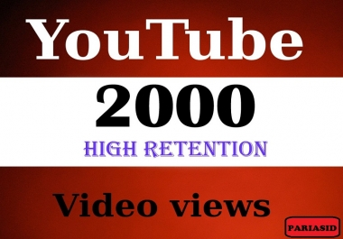 Provide You 1500-2000High Quality HR Youtube Views
