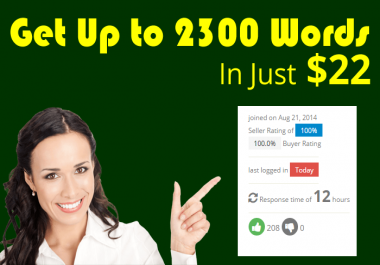 SPECIAL SERVICE: Get SEO Optimized 2300 to 2500 words