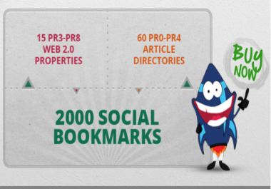 75 high pr authority LINKWHEEL and 2000 social bookmarks