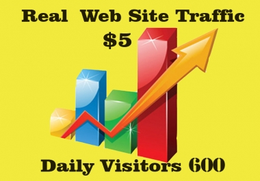 Give UNLIMITED Real Human website traffic 600 daily visits