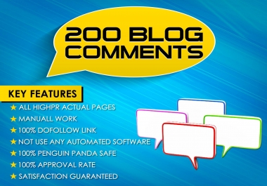 i will make 200 Blog Comments on High PR