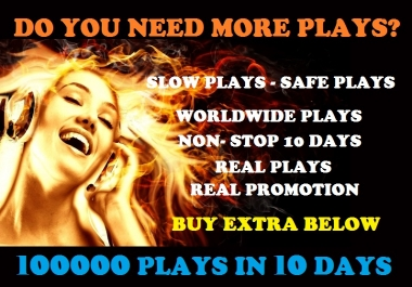 I will provide BEST and Most Affordable SoundCloud plays for your music