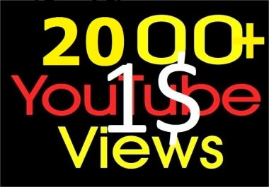 Instant Start 1000-1500+ Youtube good quality Views
