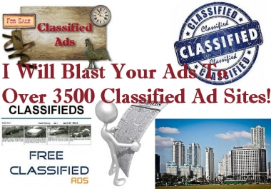 I Will Submit Your CLASSIFIED Ad And Link To Over 5 Million Viewers Through Advertising Sites