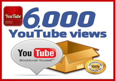 I will add 5000 To 6000+ Youtube views