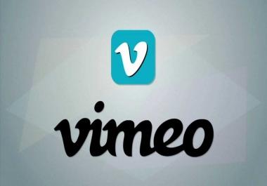 HQ 1 Million Organic Vimeo Views