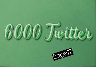 ADD 6,000 HQ Twi-tter follo or 2500  retweet splitable only