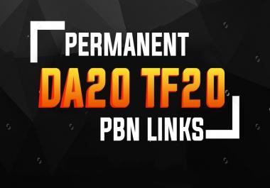 10 Permanent PBN Links ( DA20+ & TF 20+)