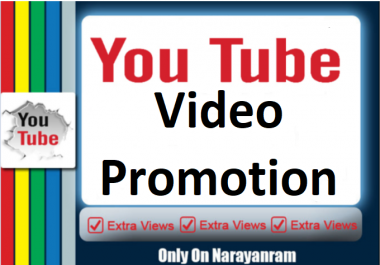 YouTube Video Social Media Promotion + 50 Thumbs Up Free