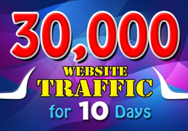 3000 daily website traffic for 10 days