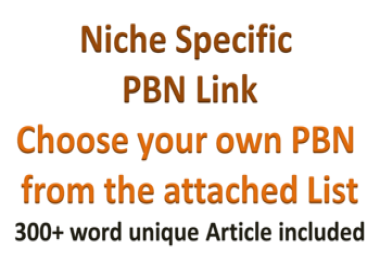 Get Niche Specific PBNs |PBN List UPDATED|Choose your own PBN|Fully Transparent