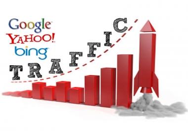 Drive 100000+ Human Traffic by Google social media etc