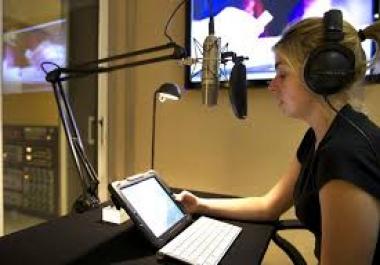 Custom order for female voice